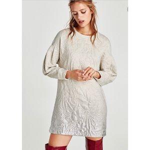 Zara Grey and Silver Plush Dress